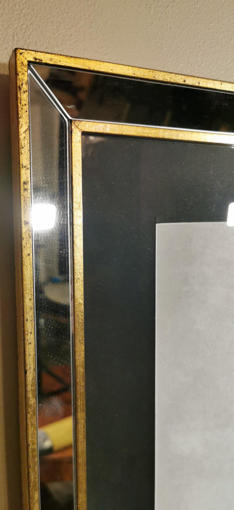 Contemporary Italian Golden Shell Print, Gilded Wood Frame with Mirror '3 of 4' For Sale 3
