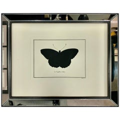 Contemporary Italian Hand Watercoloured Print with Mirror Frame