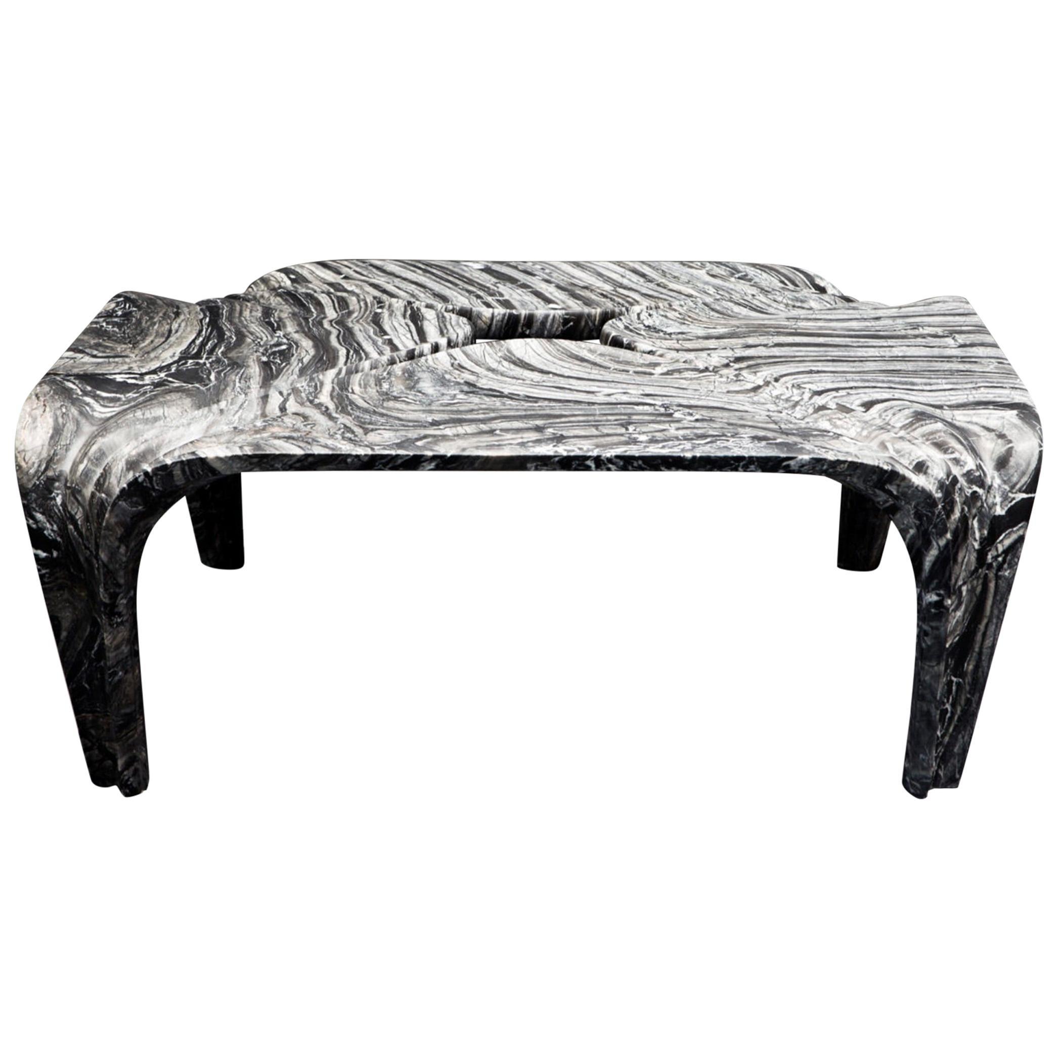 Contemporary Italian Marble Coffee Table Designed by Zaha Hadid