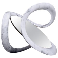 Contemporary Italian Marble Mirror Created by Stefano Bigi