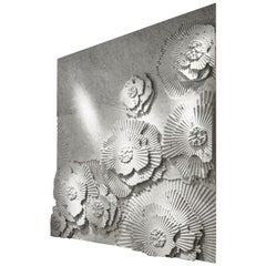 Contemporary Italian Marble Wall Feature in 3D Floral Pattern