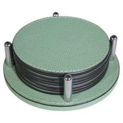 Contemporary Italian Pale Green Coaster Set
