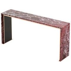 Contemporary Italian Rosso Levanto Marble Console