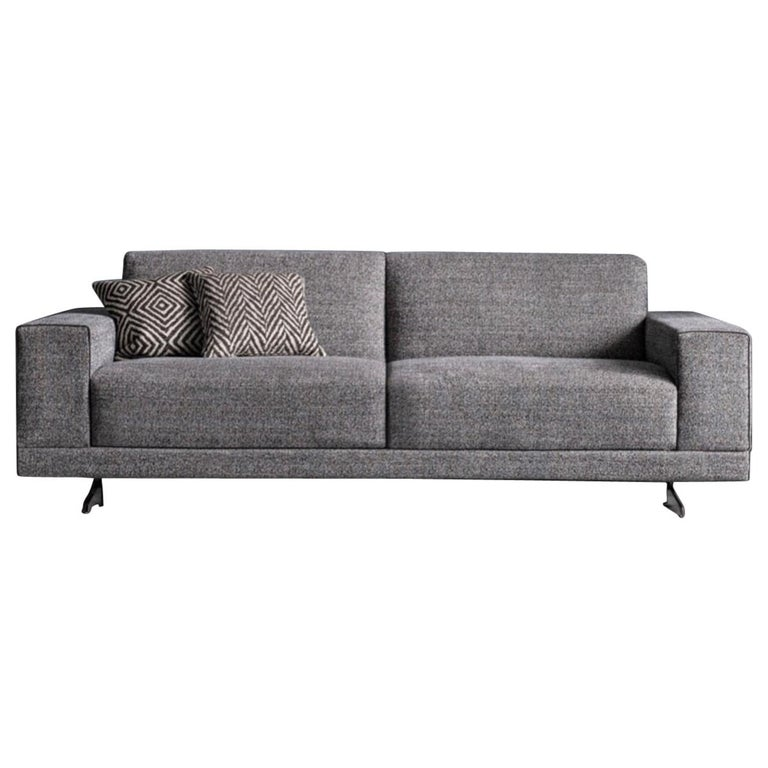 Contemporary Italian Sofa Bed with Storage, Made in Italy, New