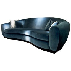 Contemporary Italian Sofa in High Quality Velvet
