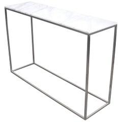 Contemporary Italian White Marble Minimalist Console Table