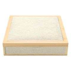 Custom Italian Wood and White Pony Hair Box