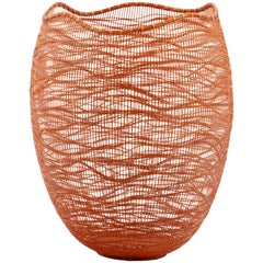 Contemporary Japanese Bamboo Sculptural Basket Morikami Jin
