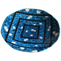 Japanese Blue Black Porcelain Vase by Contemporary Master Artist