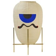 Contemporary Japanese Chochin Floor Lamp Limited Edition #2 Zen Washi