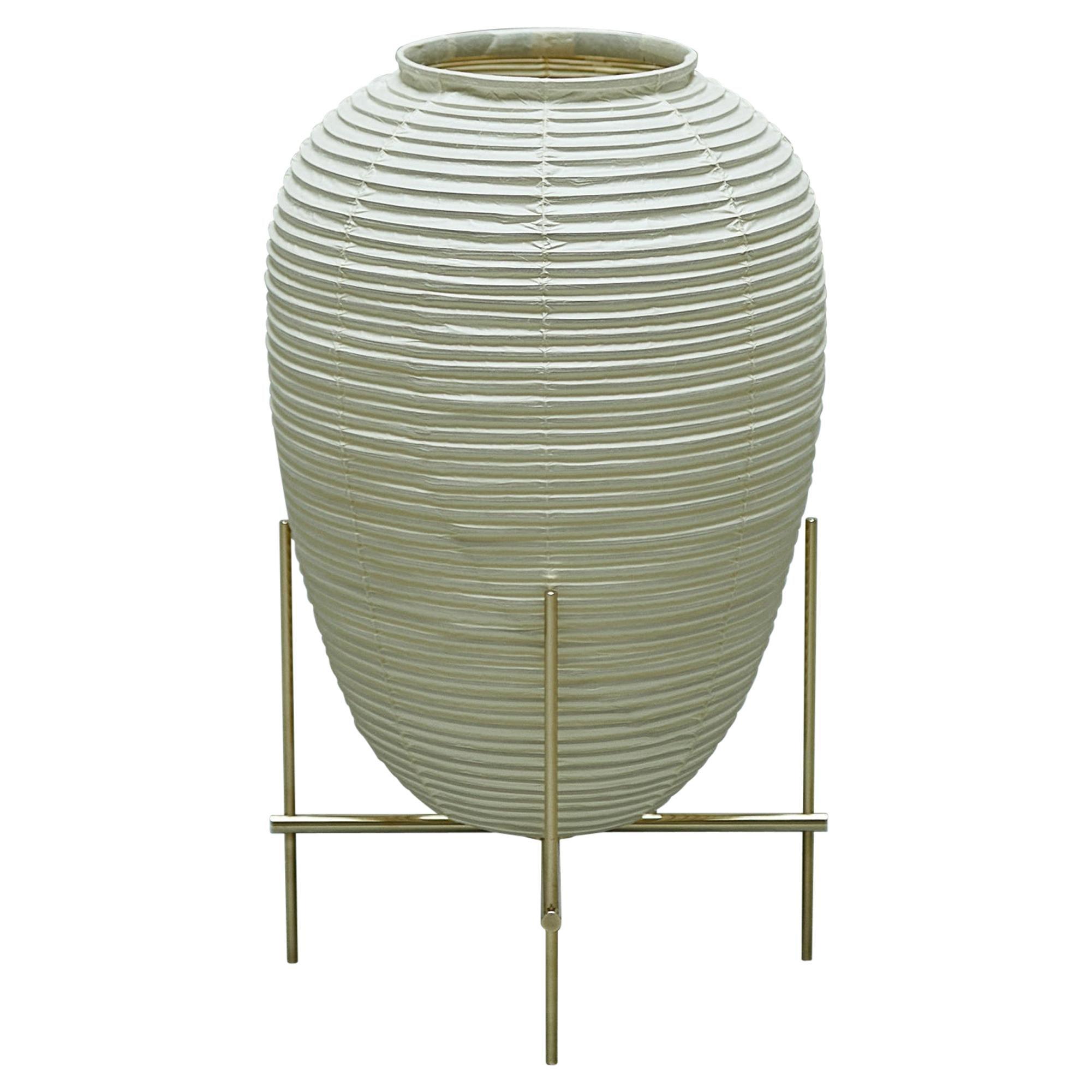 Contemporary Japanese Chochin Floor Lamp Zen Washi Japanese Paper Shade