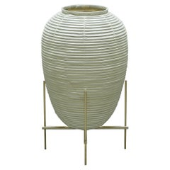 Contemporary Japanese Chochin Floor Lamp Zen Washi Japanese Paper Shade
