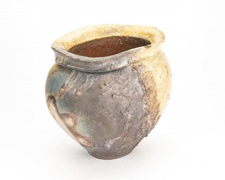 Contemporary Japanese Shigaraki Pottery Vase For Sale 1
