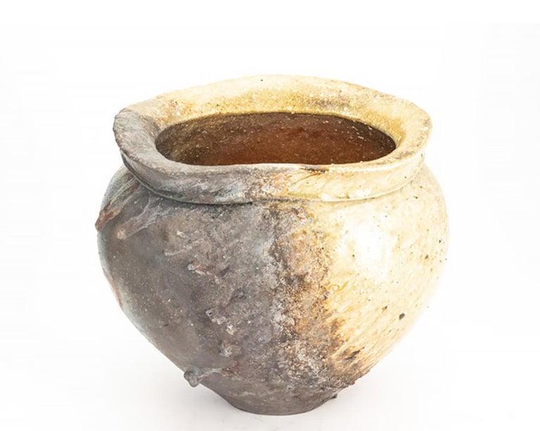 Contemporary Japanese Shigaraki Pottery Vase For Sale 3