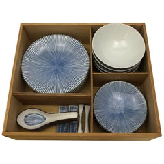 Contemporary Japanese Sushi and Miso Soup Dish Set