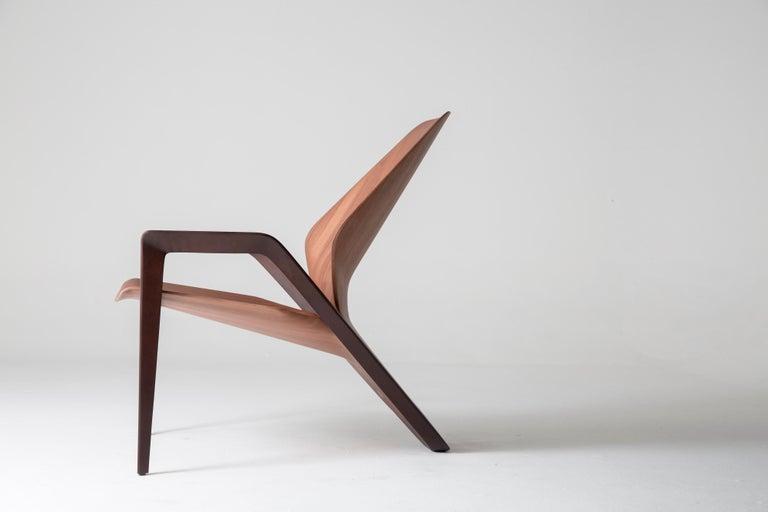 Contemporary Ava Armchair in Wood by Guto Indio da Costa, Brazil For Sale 2