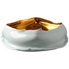 Contemporary Jindezhen Porcelain and Qingbai Gold Bowl 'Large'