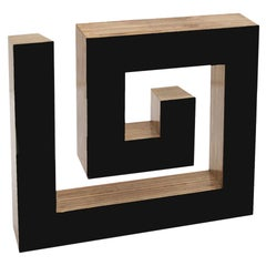 Contemporary Josecho López Llorens Geometric Black Lacquered Pine Wood Sculpture