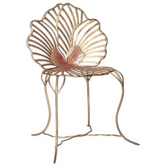 Contemporary Joy de Rohan Chabot Forged Metal Pansy Chair