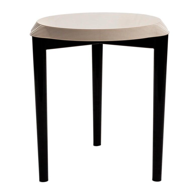 Jump low stool with Avana beige Corian top, new