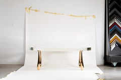 Contemporary Jupiter Low Table Bronze and Cast Acrylic Coffee Table by Stacklab