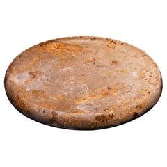 Aina Contemporary Jurassic Fossil Marble Aqua Plate for Ricard Camarena Rest.