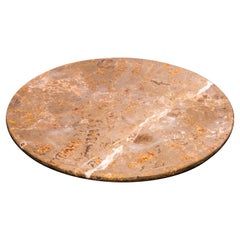 Aina Contemporary Jurassic Fossil Marble Insulam Plate, Living Collection