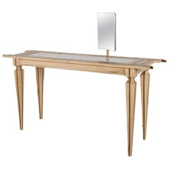 Contemporary Just Contrast Console in Mixed Woods and Acrylic