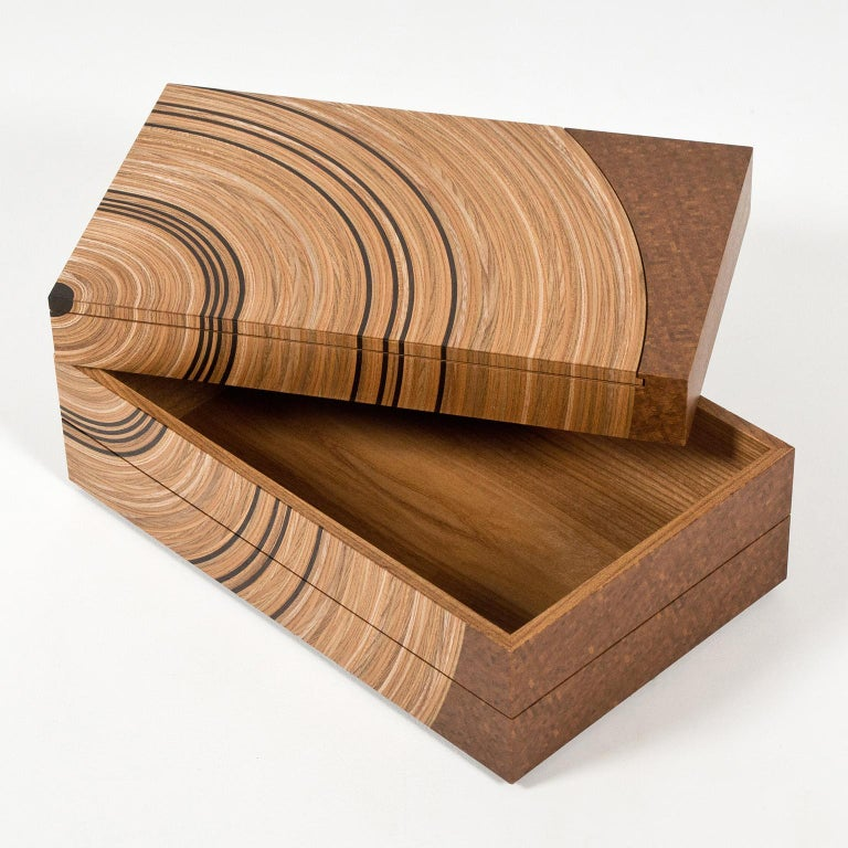 The contemporary 'Family Tree' keepsake box by Edward Johnson forms part of his Murano Collection. The pieces in this collection all utilise Edward Johnson's unique 'Murano' veneers that have been developed and produced in his workshop.  The
