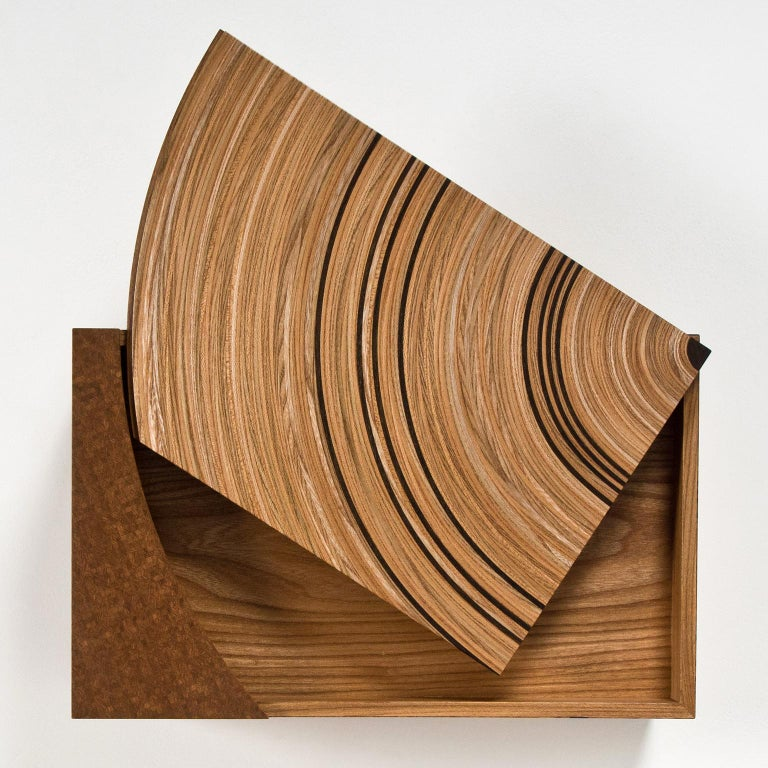 British Contemporary Keepsake Box in Elm and Fumed Oak 'Family Tree' by Edward Johnson For Sale