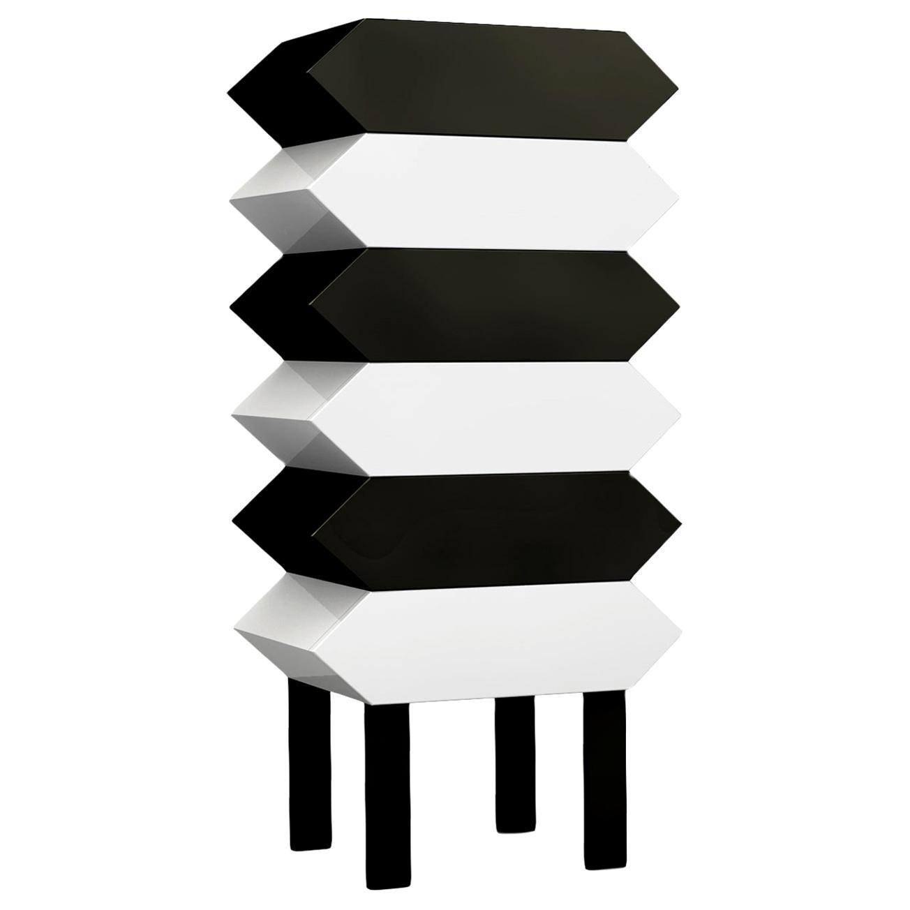 Contemporary Kiki Cabinet in Aluminum by Altreforme