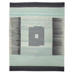 Contemporary Kilim, Ethnic Design in Gray