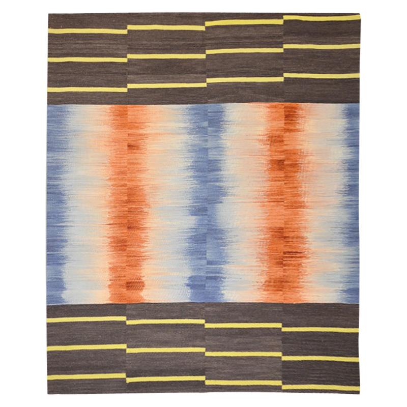 Contemporary Kilim, Mazandarán Multi-Color Design