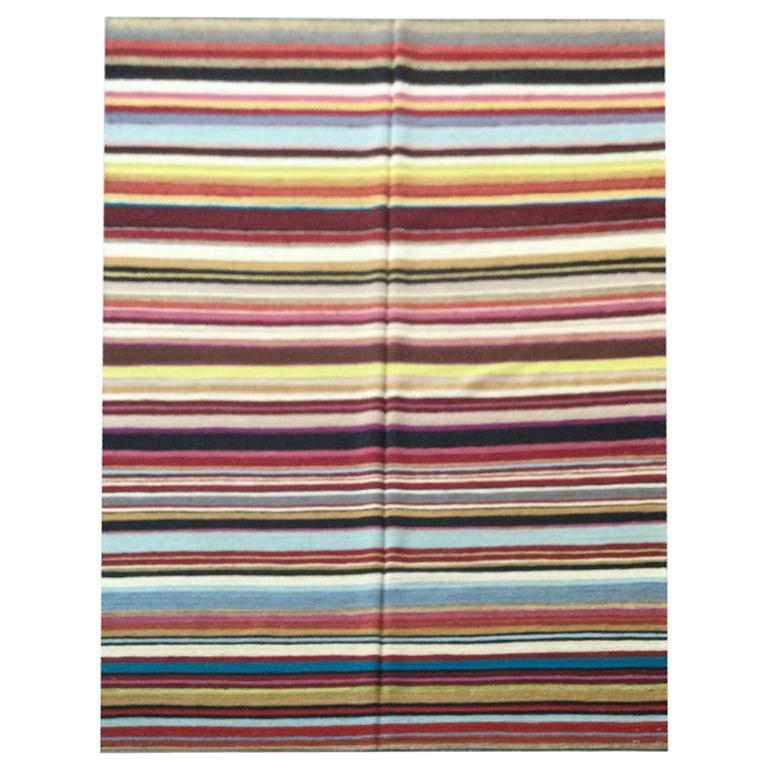Contemporary Kilim, Multi-Color Design. 3,00 x 2,00 m