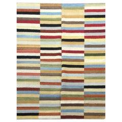 Contemporary Kilim, Multi-Color Geometric Design