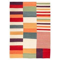 Contemporary Kilim, Multi-Color Design