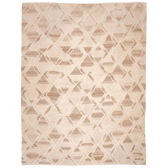 Contemporary Kilim Rhombus Design Made of Wool Soft Colors