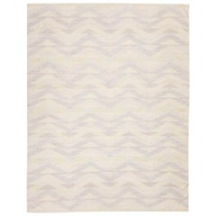 Contemporary Kilim, Scandinavian Design Handmade over Soft Colors