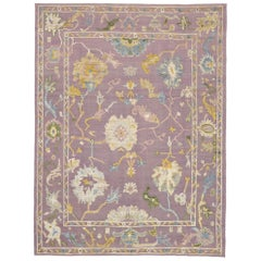 Contemporary Kilim Souf Rug with Oushak Design and Modern Bohemian Style