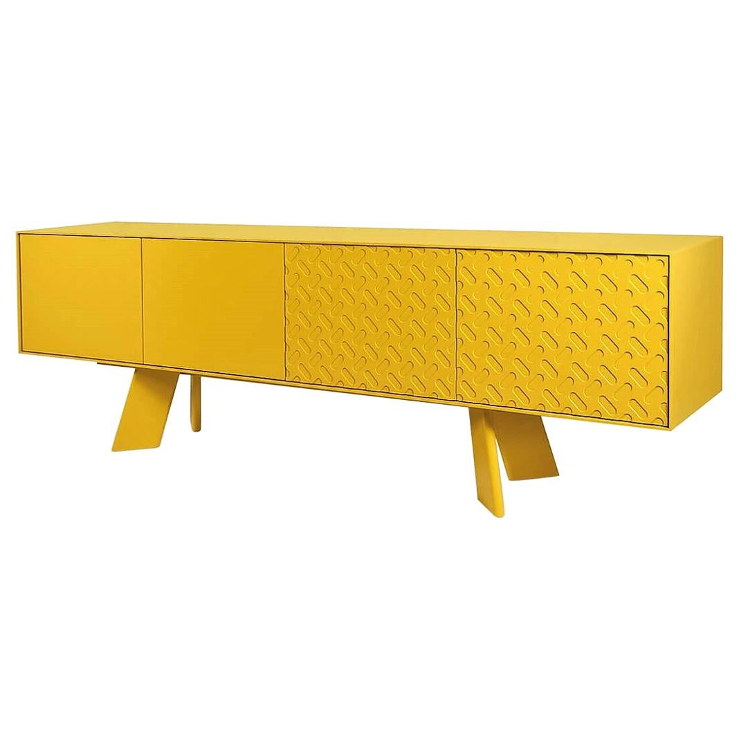 Contemporary Lacquered Sideboard in Gold Yellow