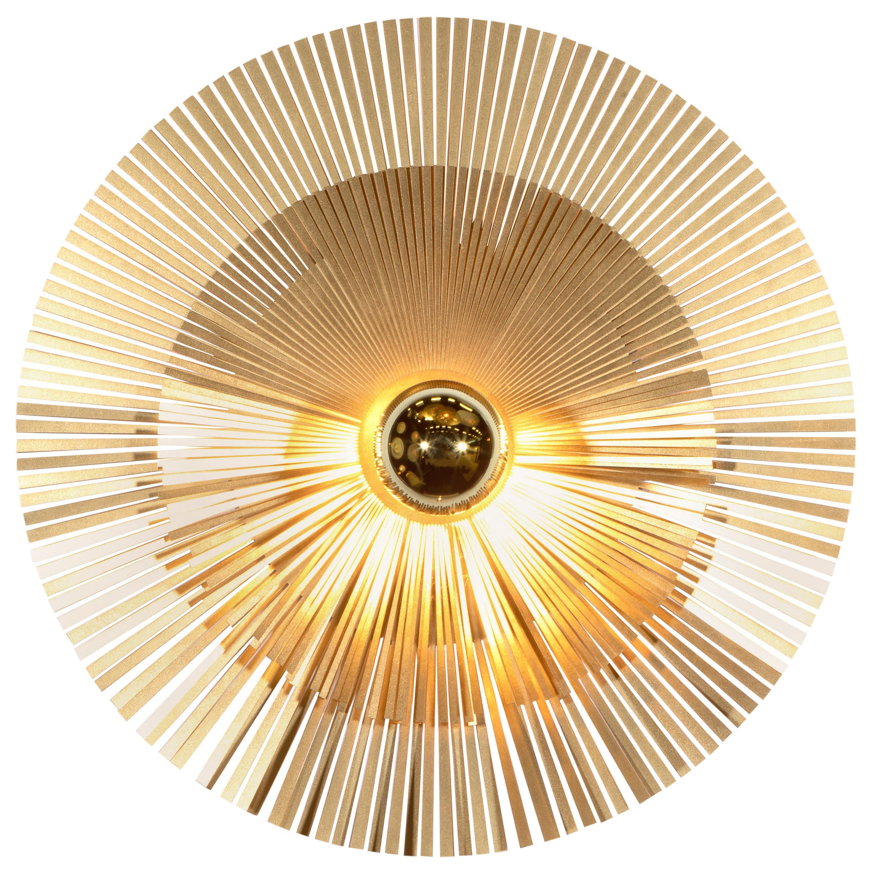 Contemporary Lafaiette S Wall Light Sconce Lamp Abstract Sculptures Brass Radar