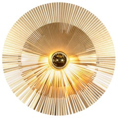 Contemporary Lafaiette S Wall Light Sconce Lamp Abstract Sculptures Brass Radar