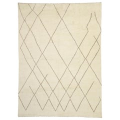 Contemporary Large Moroccan Area Rug with Cozy Organic Modern Style