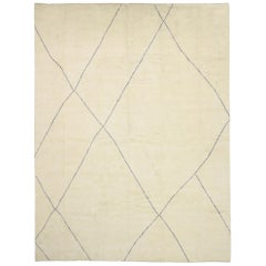 Contemporary Large Moroccan Rug with Modernist Style and Cozy Minimalist Vibes
