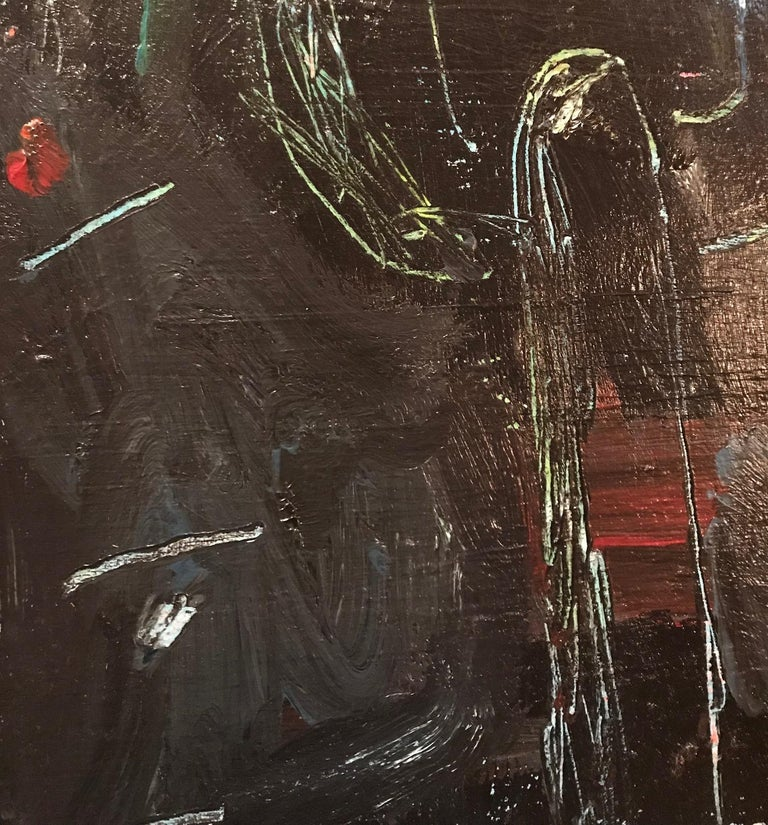 1990s Contemporary Large Original Graffiti Art Painting in Basquiat Style For Sale
