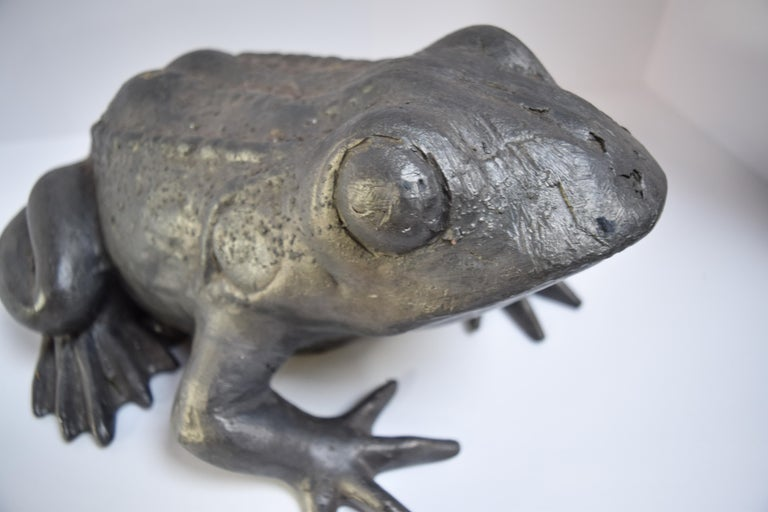 A modern take on a Classic artform, Stephen Markham's techniques transcends the time-honored craft of lead work into a contemporary landscape. This charming frog statue is entirely cast in British lead and will prove to be a timeless addition to