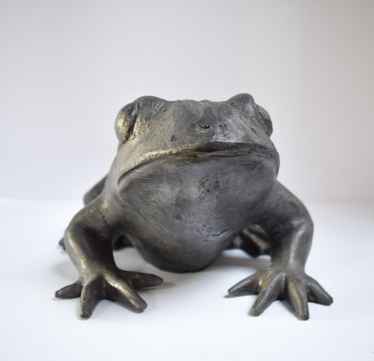 English Contemporary Lead Frog For Sale