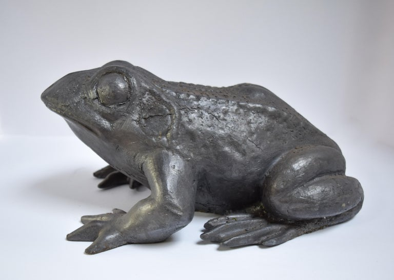 Cast Contemporary Lead Frog For Sale
