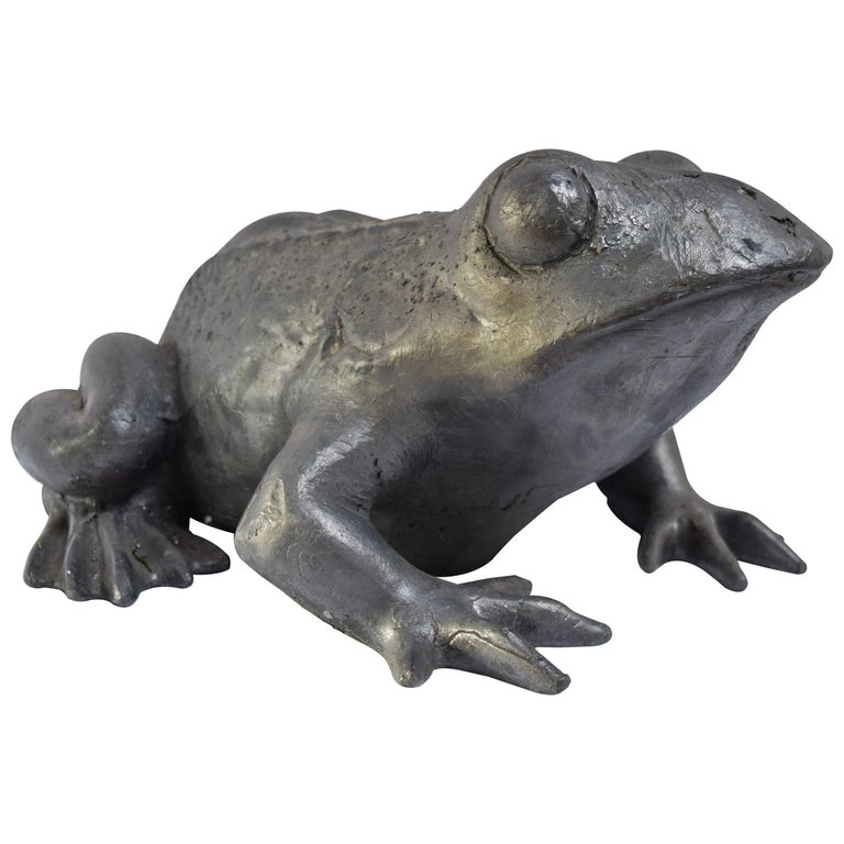 Contemporary Lead Frog For Sale