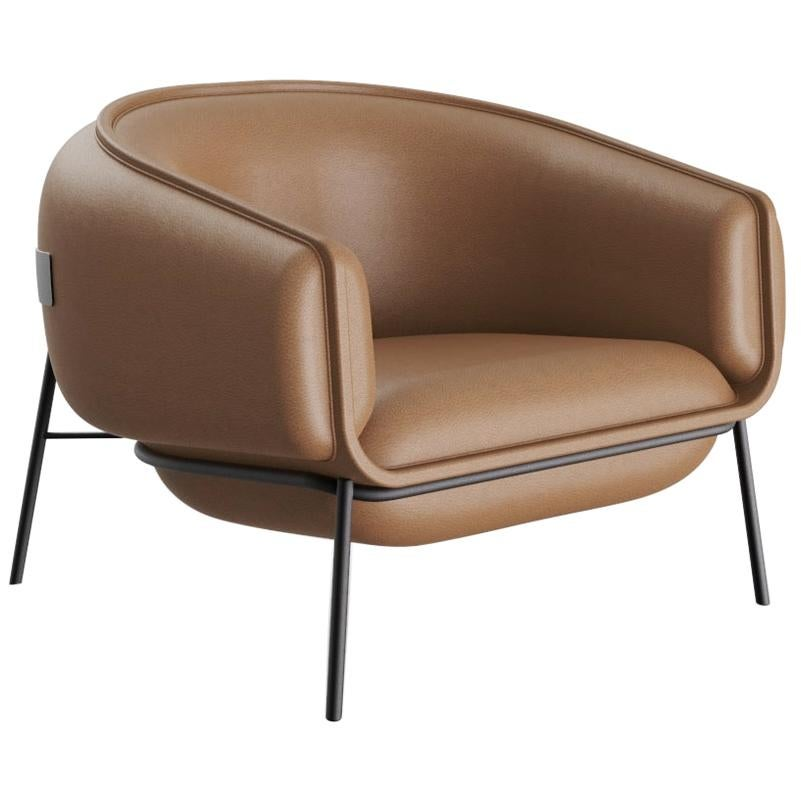 Contemporary Leather Blop Armchair